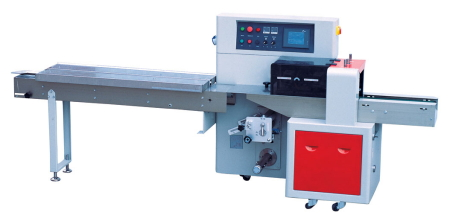 Bottom Fed Flow Wrapping Machine