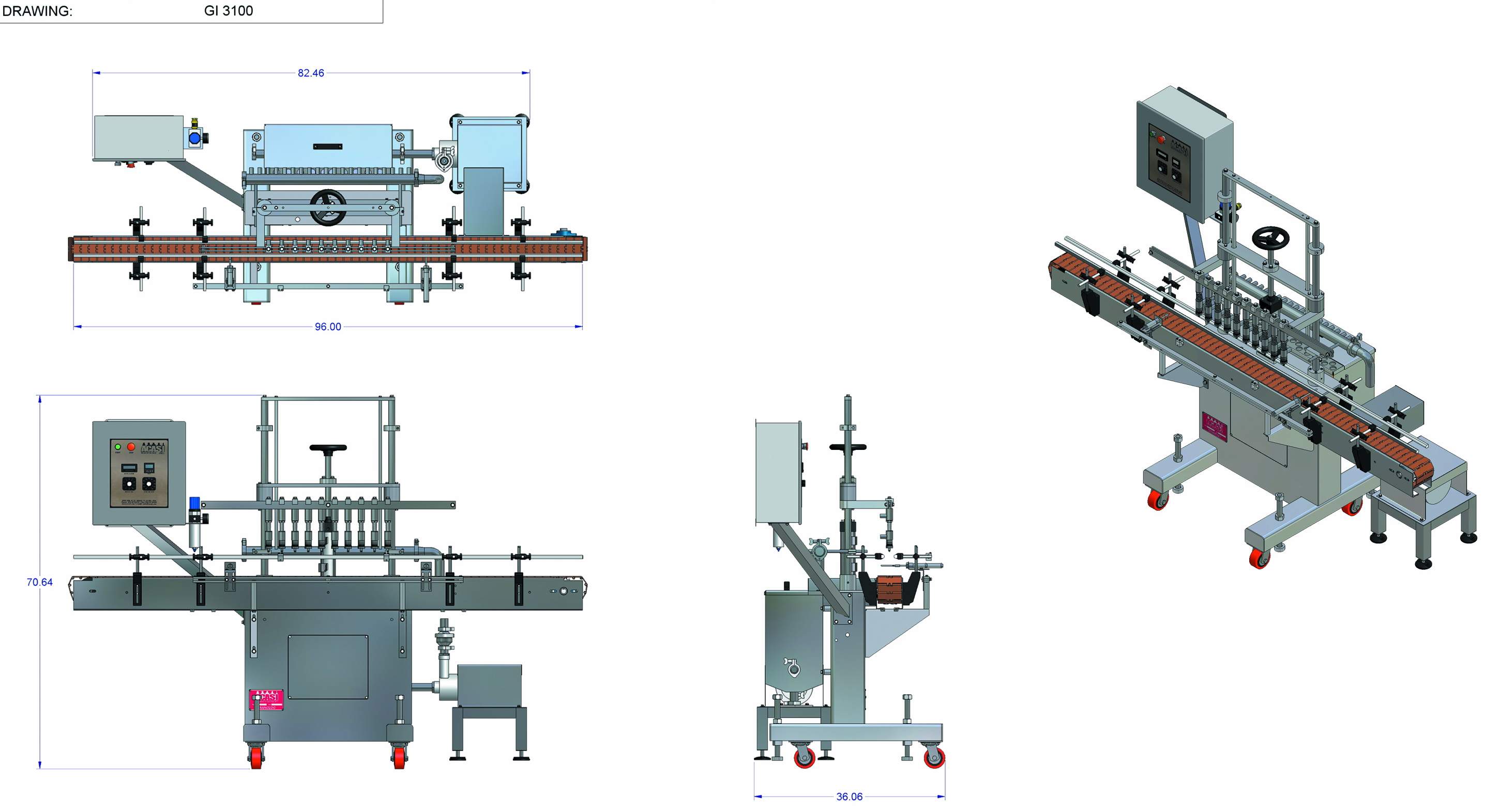 Overflow Filling Machines Industrial Bottling Machines